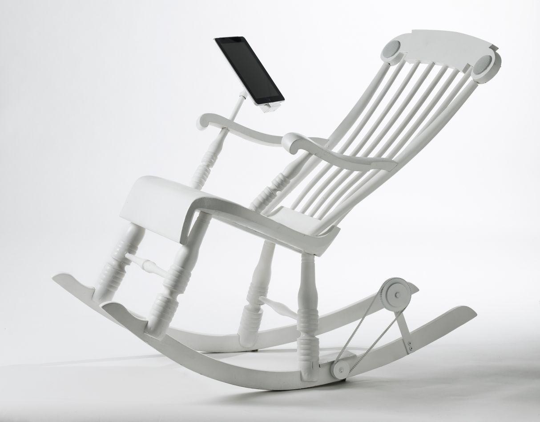 iPad rocking chair